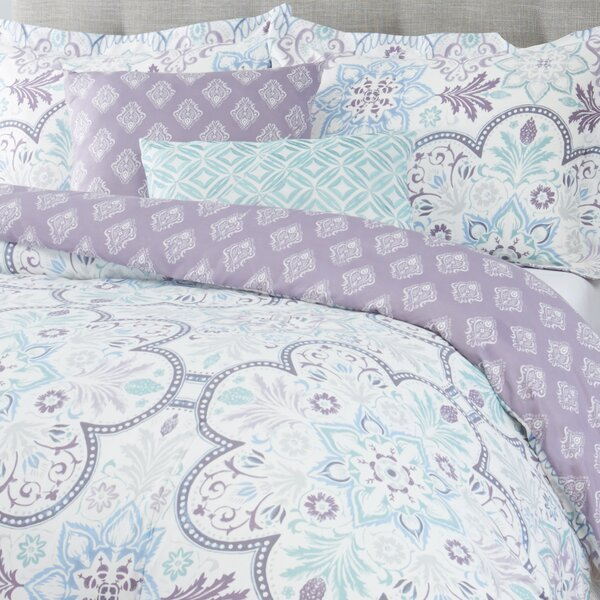 100% Cotton Reversible Comforter Set by Nicole Miller